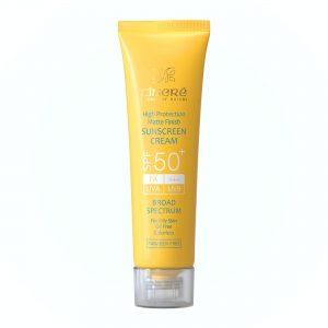 کرم ضد آفتاب سینره spf 50 بی رنگ برای پوست چرب