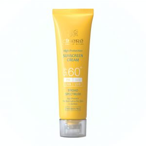 ضد آفتاب بی رنگ spf 60 پوست خشک سینره